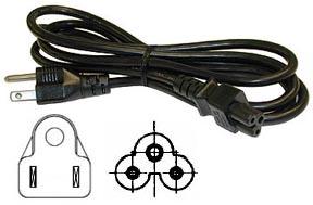 138-330 : 3 Conductor - NEMA5-15P to IEC320-C5 socket, Black, 6ft