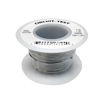 Tinned Copper Bus Bar Wire, 18AWG, 1/4 lb Roll