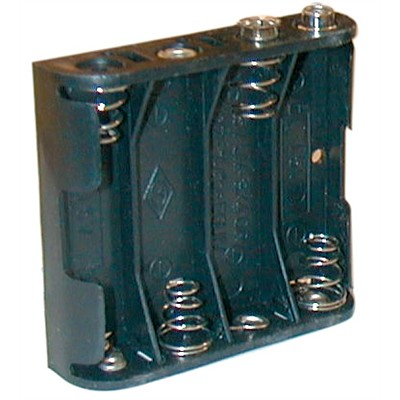 AA Battery Holder - 4 Cells, 9V Snap