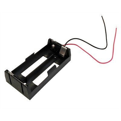 18650 Battery Holder - 2 Cells, Wire Leads