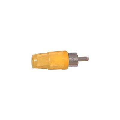 RCA Plug - Plastic 4mm, Yellow, Pkg/10