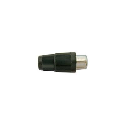 RCA Jack Inline - Plastic 4mm, Black, Pkg/10