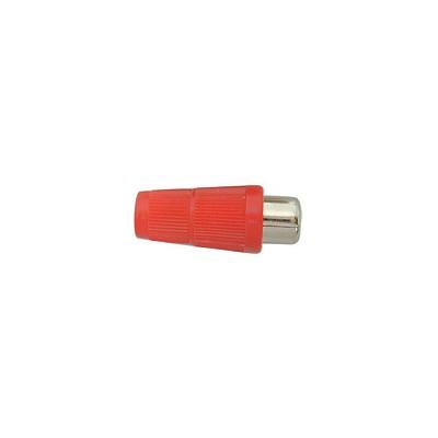 RCA Jack Inline - Plastic 4mm, Red, Pkg/10