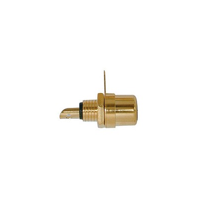 RCA Jack Chassis - Gold plated, Black Insert, Pkg/10