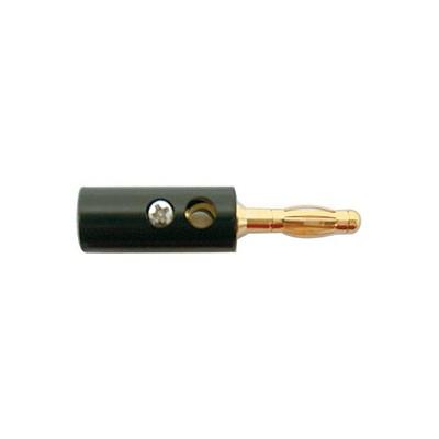Banana Plugs, 12AWG - Gold/Black plastic, Pkg/10