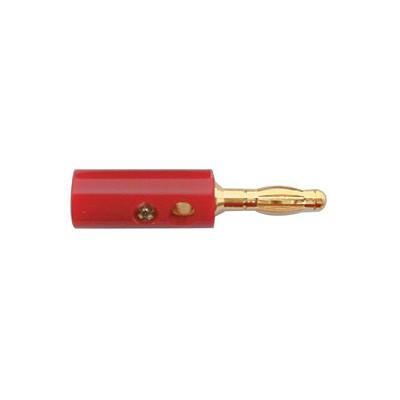 Banana Plugs, 12AWG - Gold/Red plastic, Pkg/10