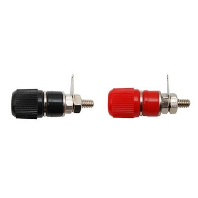Binding Post 14x13mm - Nickel/Black&Red, Pkg/2