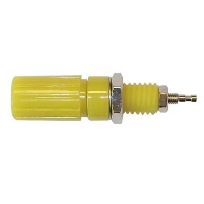 Binding Post 18x11mm - Nickel/Yellow, Pkg/10