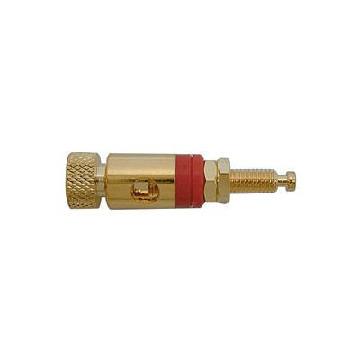 Binding Post 22x11mm - Gold/Red band, Pkg/10