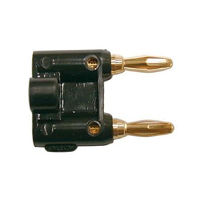 Dual Banana Plug 14AWG - Gold/Black plastic
