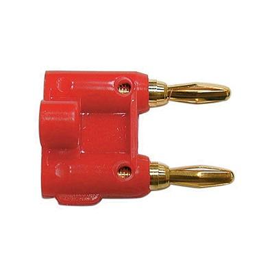 Dual Banana Plug 14AWG - Gold/Red plastic