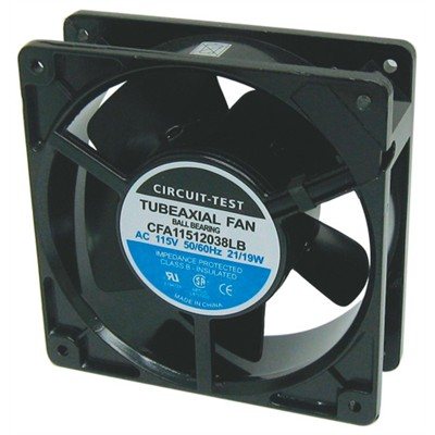Fan 115VAC, 120mm x 38mm, 58 CFM, Ball Bearing