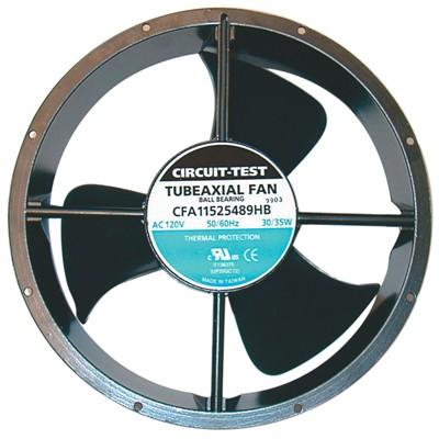 Fan 115VAC, 254mm x 89mm, 550 CFM, Ball bearing