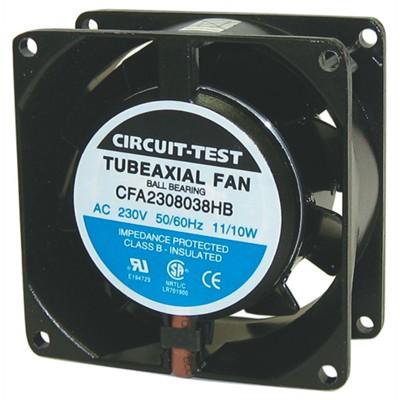 Fan 230VAC, 80mm x 38mm, 26/32 CFM, Ball bearing