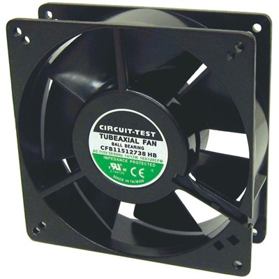 Fan 115VAC, 127mm x 38mm, 120 CFM, Ball Bearing