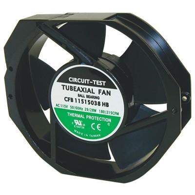Fan 115VAC, 150mm x 38mm, 212 CFM, Ball bearing
