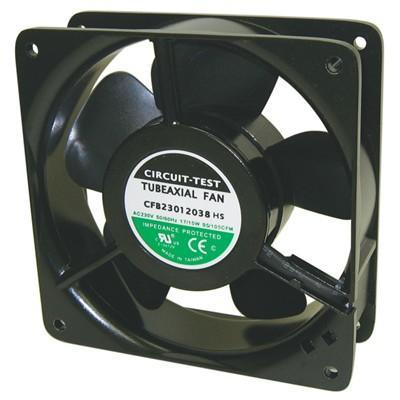 Fan 230VAC, 120mm x 38mm, 95/105 CFM, Sleeve bearing