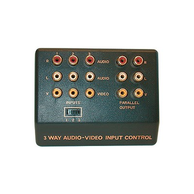 3-Way Audio/Video Switch Box