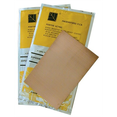 Single-Sided Copper Clad Presensitized Board, 100x150x0.8mm