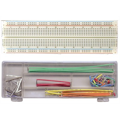 Breadboard (830 Holes) with Wiring Kit - 70 pcs