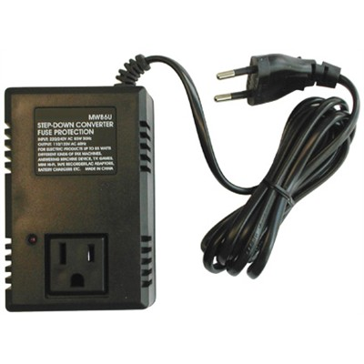 Foreign voltage step down travel transformer 85w for Transformateur 220 110 darty