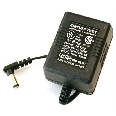 AC/DC Adapter - 12VDC 200mA, Right Angle Plug