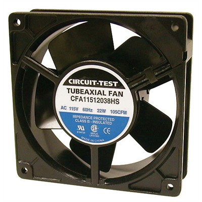 Fan 115VAC, 120mm x 38mm, 105 CFM, Sleeve bearing