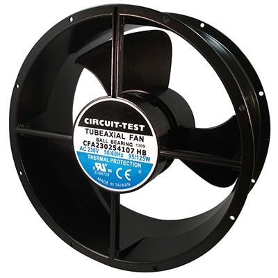 Fan 230VAC, 254mm x 107mm, 780/850 CFM, Ball bearing