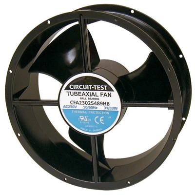 Fan 230VAC, 254mm x 89mm, 460/550 CFM, Ball bearing
