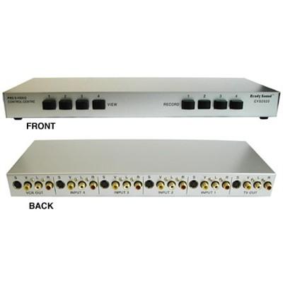 4Way AudioVideo SVideo RCA Switch Box