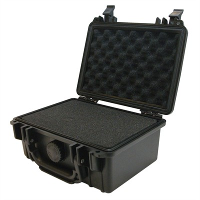 "IBEX Protective Case 1100 with foam, 8.3 x 6.6 x 3.5"", Black"