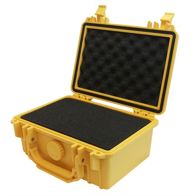 "IBEX Protective Case 1100 with foam, 8.3 x 6.6 x 3.5"", Yellow"