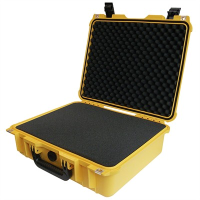 "IBEX Protective Case 1505 with foam, 16.9 x 15 x 6.1"", Yellow"