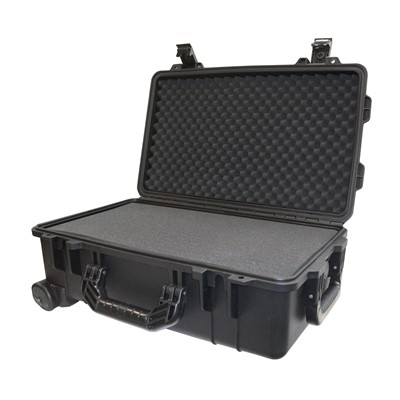 "IBEX Protective Case 1800 with foam, 21 x 14 x 8.8"", Black, with Wheels"