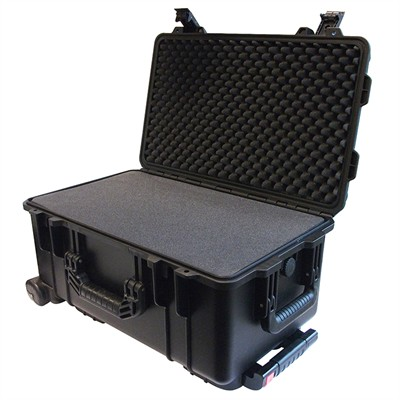 "IBEX Protective Case 2500 with foam, 22 x 14 x 11.4"", Black, With Wheels"