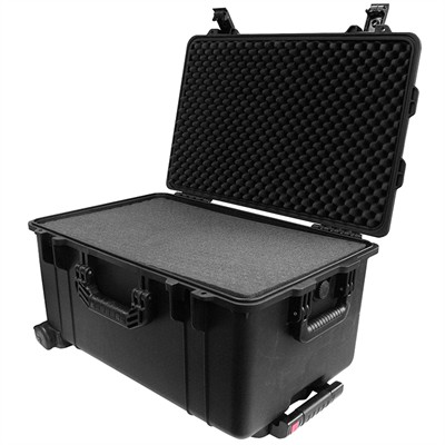 "IBEX Protective Case 2700 with foam, 24.6 x 16.5 x 13.4"", Black, With Wheels"