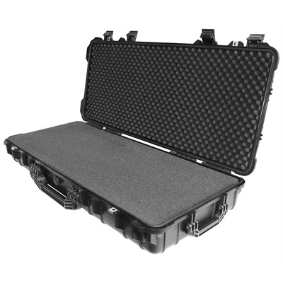 "IBEX Protective Case 4200 with foam, 38.4 x 16.9 x 6.6"", Black, With Wheels"