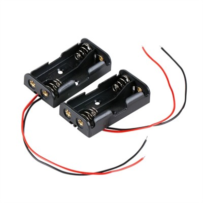 AA Battery Holder - 2 Cells, Wire Leads, Pkg/2