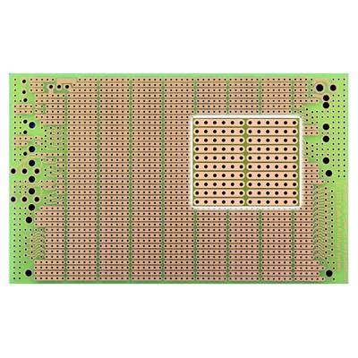 BUSBOARD® Protoboard, 6 Hole Strips, Connector footprints, Size 3 (100x160mm)