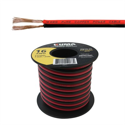 Low Voltage DC Power Cable, 16AWG, 25ft Roll