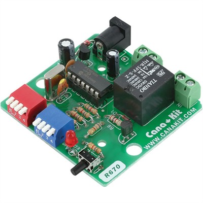 Cyclic PIC Digital Timer with Relay (1 sec to 15 hour) - Preassembled